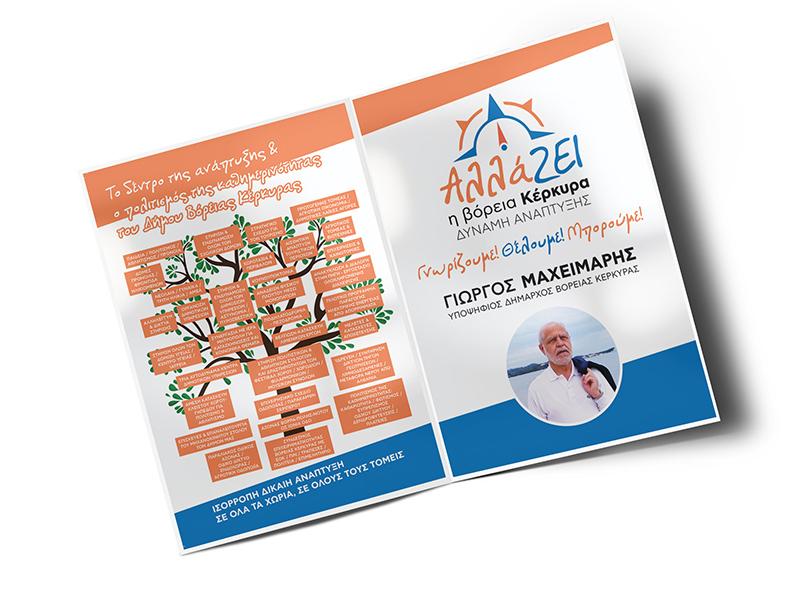 Πολιτικός Συνδυασμός Γιώργου Μαχειμάρη - Σχεδιασμός λογοτύπου και προεκλογικών εντύπων
