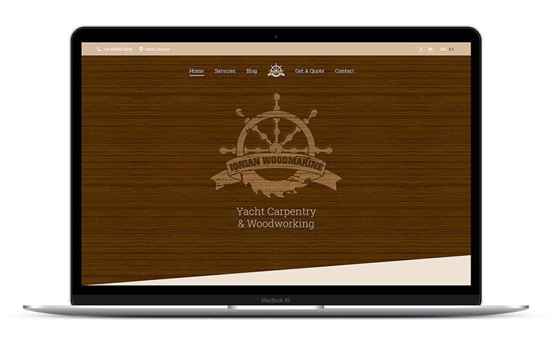 Ionian Woodmarine - Σχεδιασμός & Κατασκευή Ιστοσελίδας